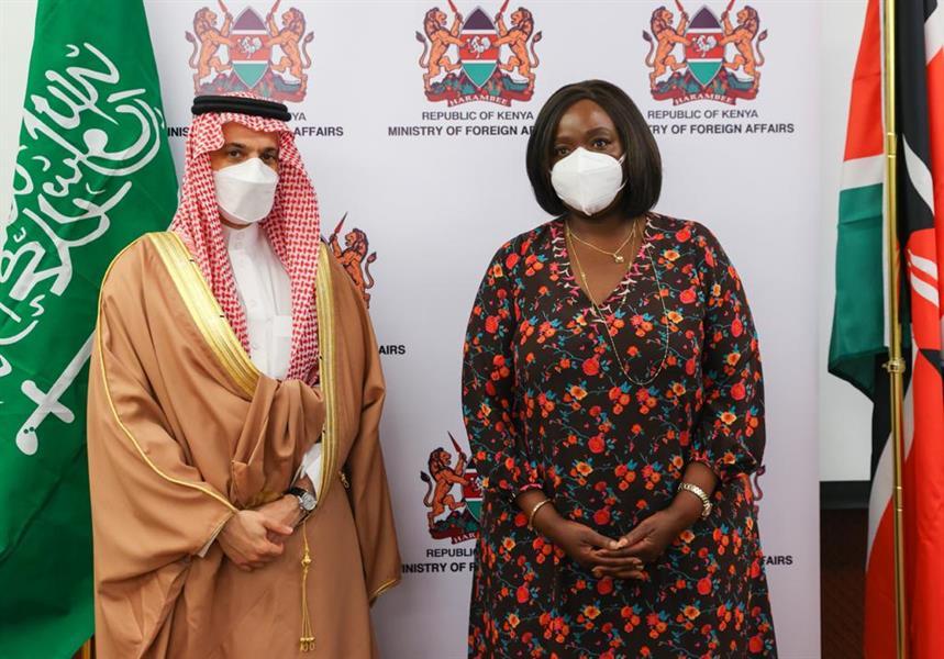 وزير الخارجية يلتقي وزير خارجية كينيا ويعقد جلسة مباحثات رسمية