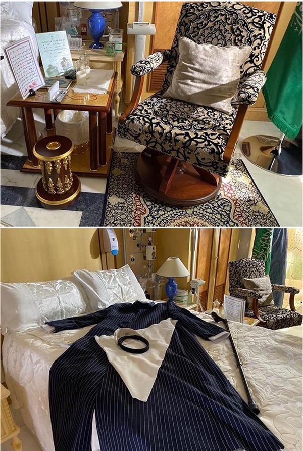 مقتنيات الملك عبدالله في غرفة استطبابه