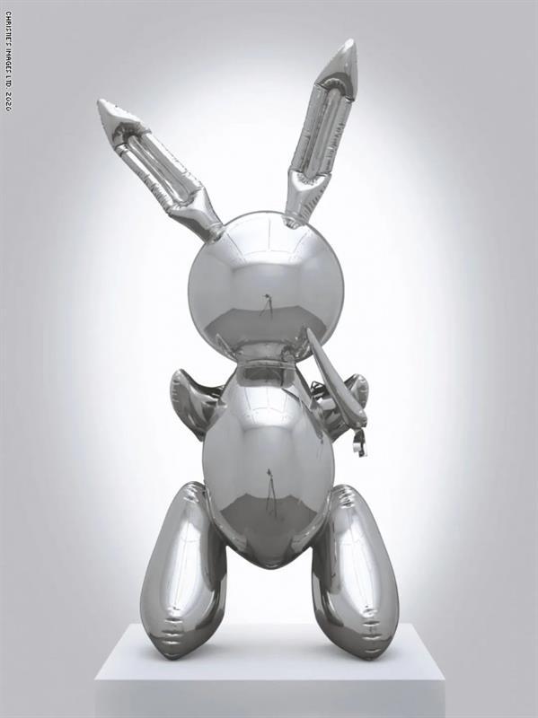"""منحوتة """"الأرنب"""" للفنان جيف كونز عام 1986"""