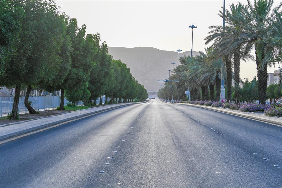 Jalanan kota madinah terlihat sepi 03