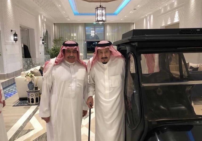 الملك سلمان مع الأمير فيصل بن سعود