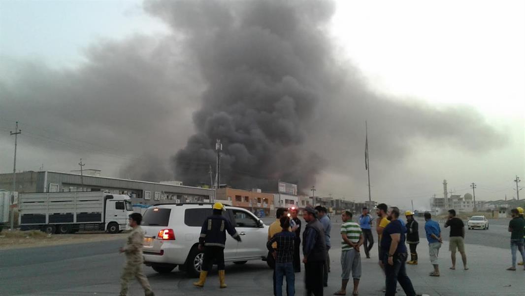 وقوع انفجارات في مستودع عتاد وذخيرة في معسكر بجنوب بغداد