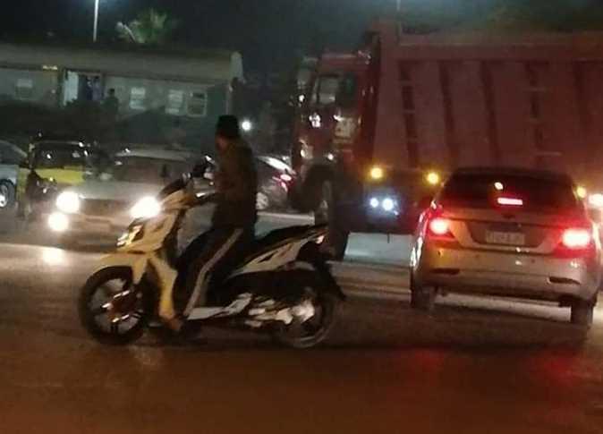 انفصال سيارة ركاب عن قطار أبو قير شرق الإسكندرية