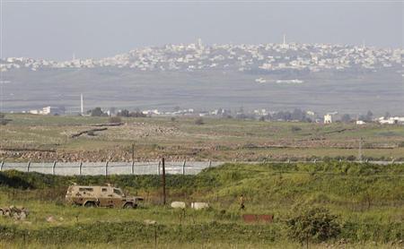 عربة مدرعة إسرائيلية في الجولان المحتل