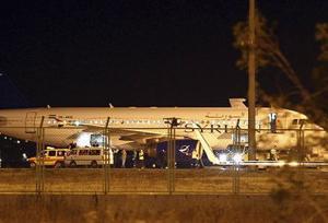 الطائرة المدنية السورية المختطفة