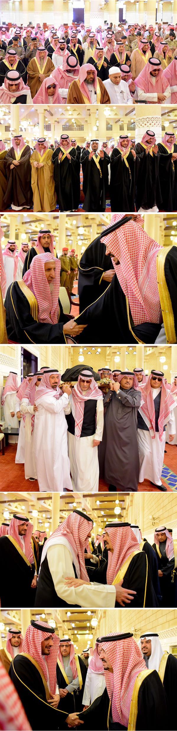 أمير الرياض يؤدّي صلاة الميت على الأمير فيصل بن بدر بن فهد