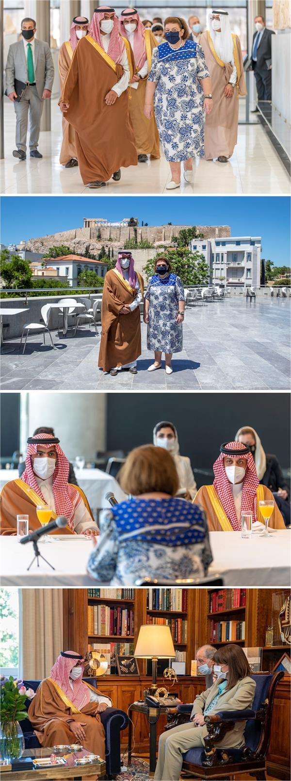 وزير الثقافة يبحث التعاون الثقافي مع رئيس اليونان ووزير الثقافة