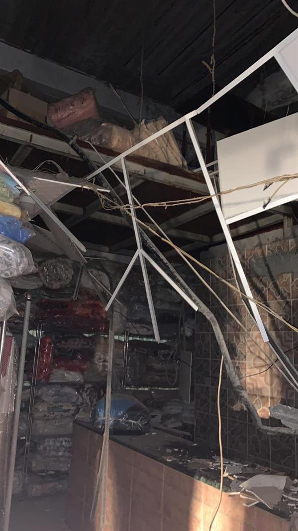 انهيار سقف مغسلة غربي الدمام
