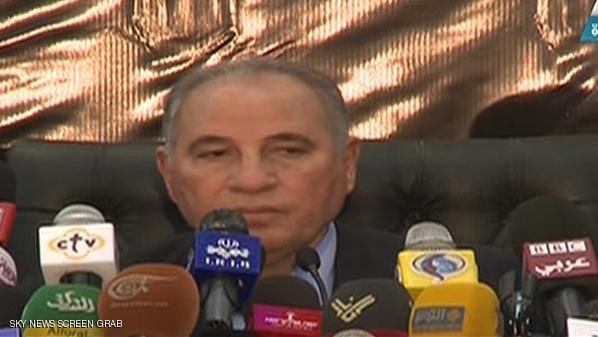 مؤتمر صحفي لرئيس نادي القضاة المصري أحمد الزند