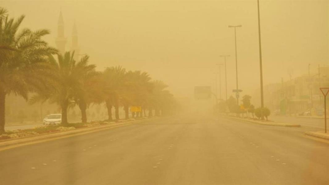 """""""الأرصاد"""": أتربة مثارة وغبار على 8 مناطق خلال الساعات المقبلة"""