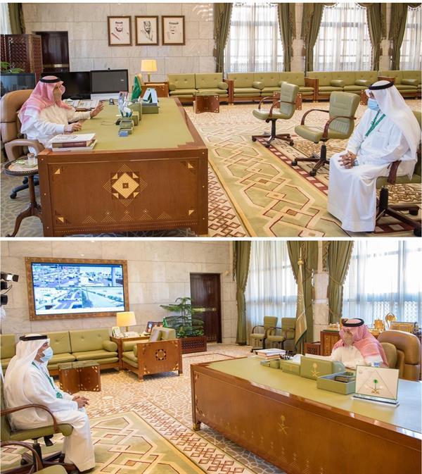 أمير الرياض يستقبل الرحالة بن دايلي