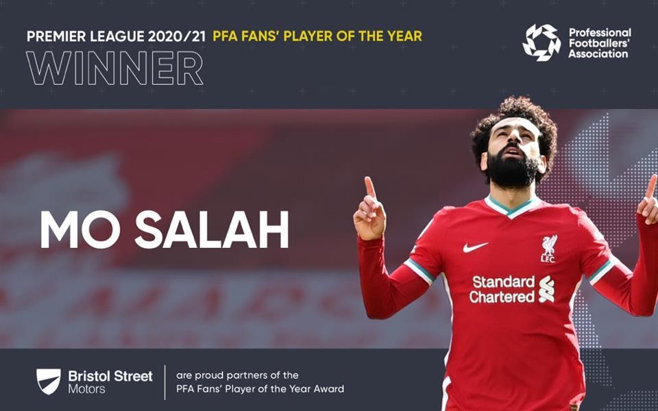 رسميًا.. محمد صلاح يفوز بجائزة رابطة المحترفين للاعب العام