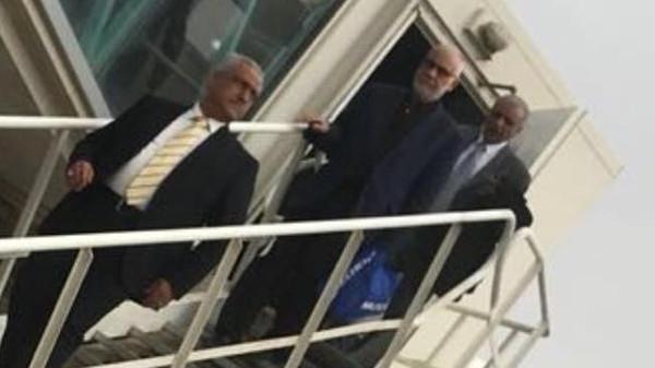 عبد الفلاح السوداني لدى وصوله إلى مطار بغداد