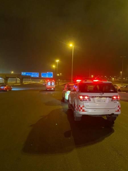 مصرع شخص وإصابة 6 بحادِث انقلاب في مكة