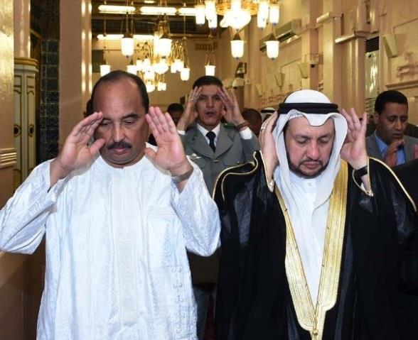 بالصور.. الرئيس الموريتاني يزور المسجد النبوي الشريف