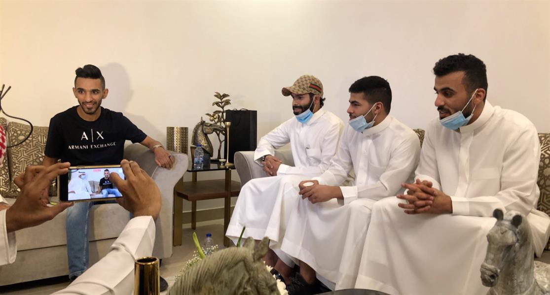 خالد الزيلعي في منزله الجديد