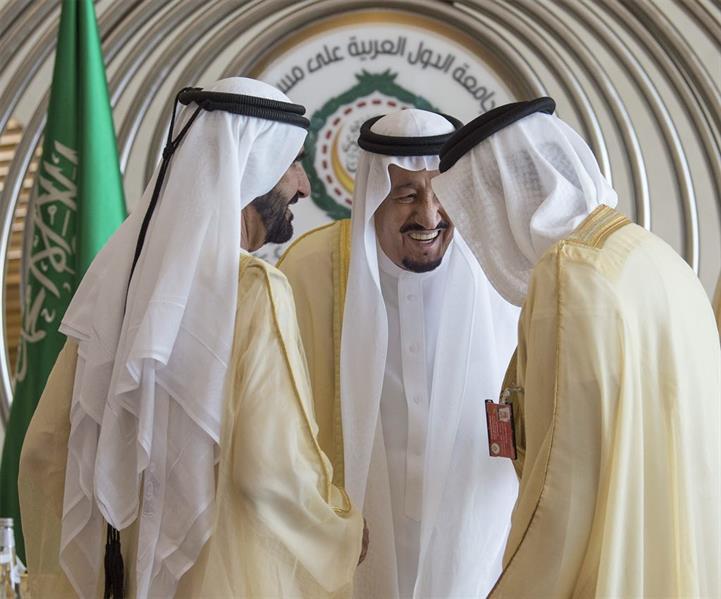 الملك في حوار باسم مع نائب رئيس دولة الإمارات