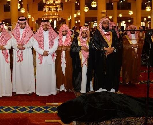 صلاة الميت على الأميرة مشاعل