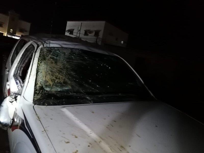 معلم ينجو من حـادث مروري خلال عودته من مدرسته بجازان