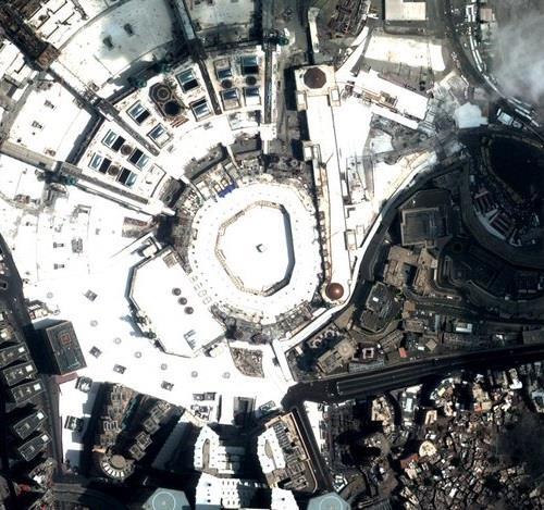 صورة فضائية للحرم المكي