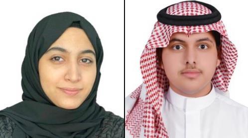الطالب عبدالله الشهري والطالبة شهد آل قيصوم