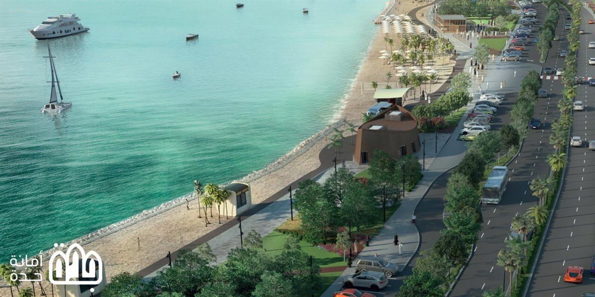 """أمانة جدة تكشف عن تصاميم مشروع تطوير الواجهة البحرية لشاطئ """"أبحر الجنوبية"""" (صور)"""
