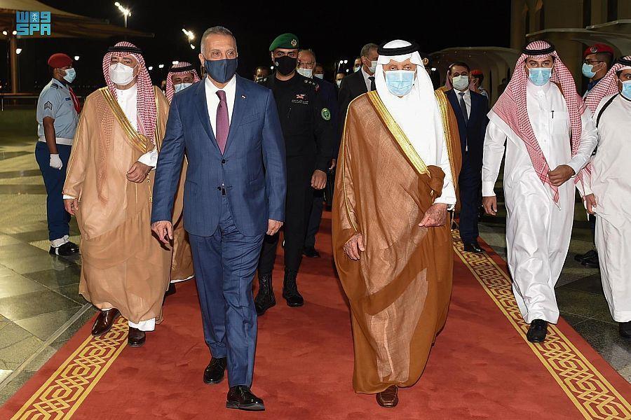 رئيس الوزراء العراقي يصل جدة قادما من الرياض