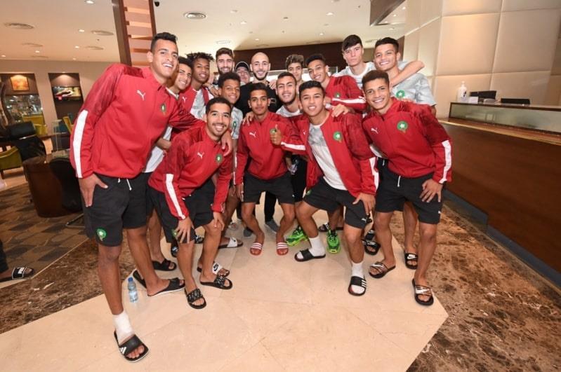 بالصور .. أمرابط يدعم المغرب في كأس العرب