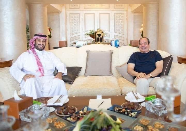 الرئيس المصري عبد الفتاح السيسي وولي العهد الأمير محمد بن سلمان