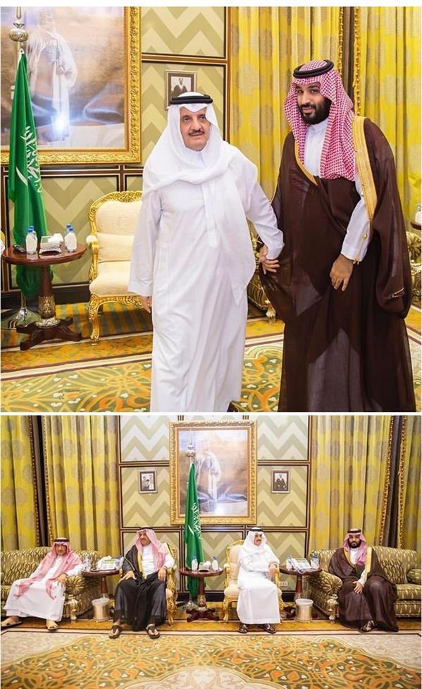 ولي العهد يعزي أبناء الأميرة العنود بنت عبد العزيز بن مساعد