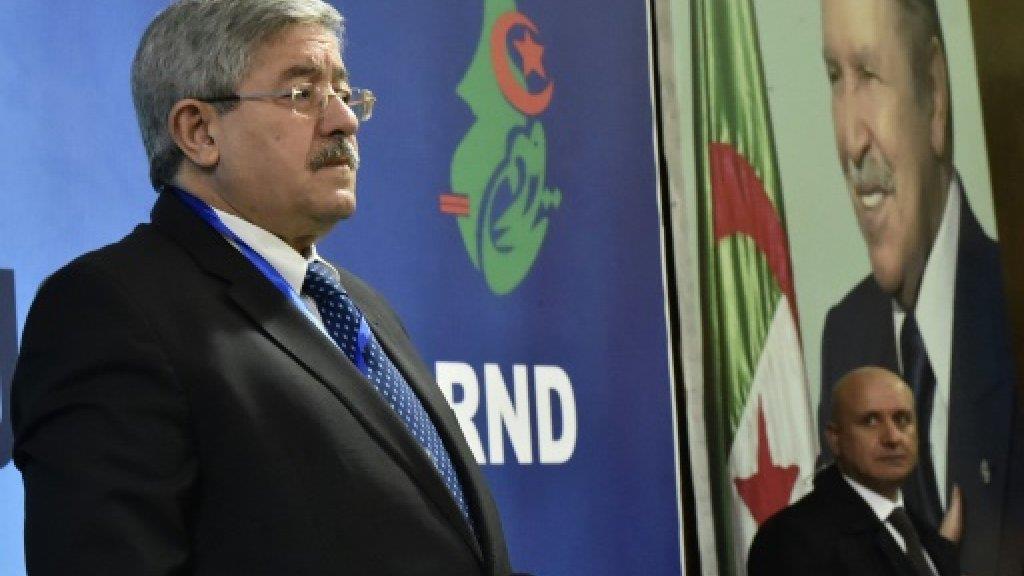 رئيس الوزراء الجزائري أحمد اويحيى في الجزائر