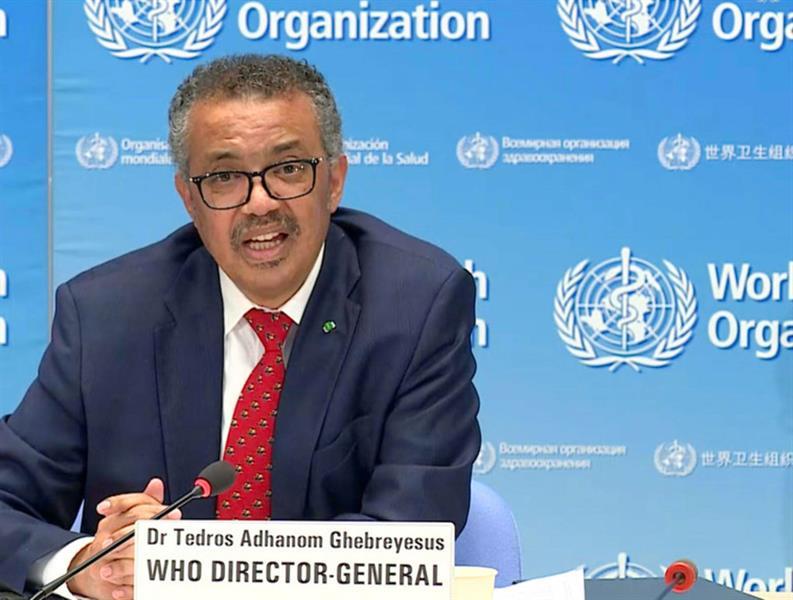 المدير العام لمنظمة الصحة العالمية الدكتور تيدروس غيبريسوس