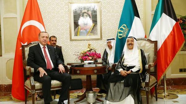 الشيخ صباح الأحمد الجابر الصباح , محادثات مع رجب طيب أردوغان