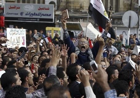 جانب من الاحتجاجات في مصر