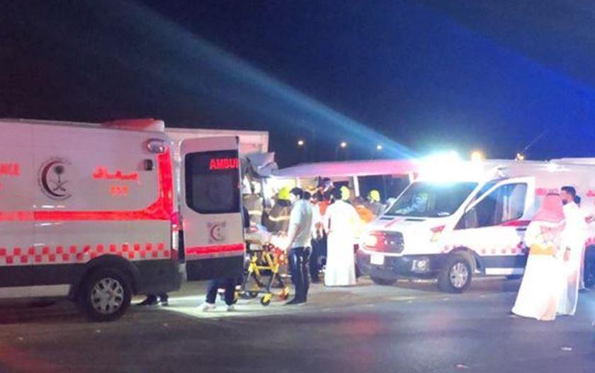 حادث تصادم ينتج عنه 8 إصابات بالرياض