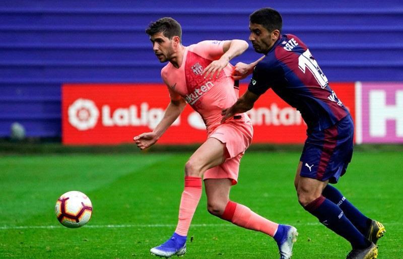 برشلونة يتعادل مع إيبار في الجولة الأخيرة من الدوري