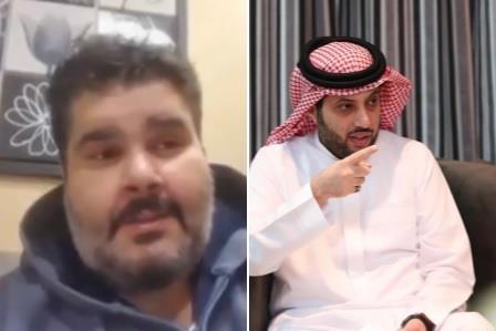 الفنان فهد الحيان والمستشار تركي ال الشيخ