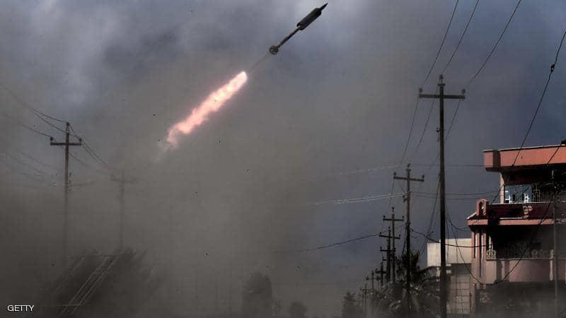 سقوط صاروخي كاتيوشا في المنطقة الخضراء بوسط بغداد