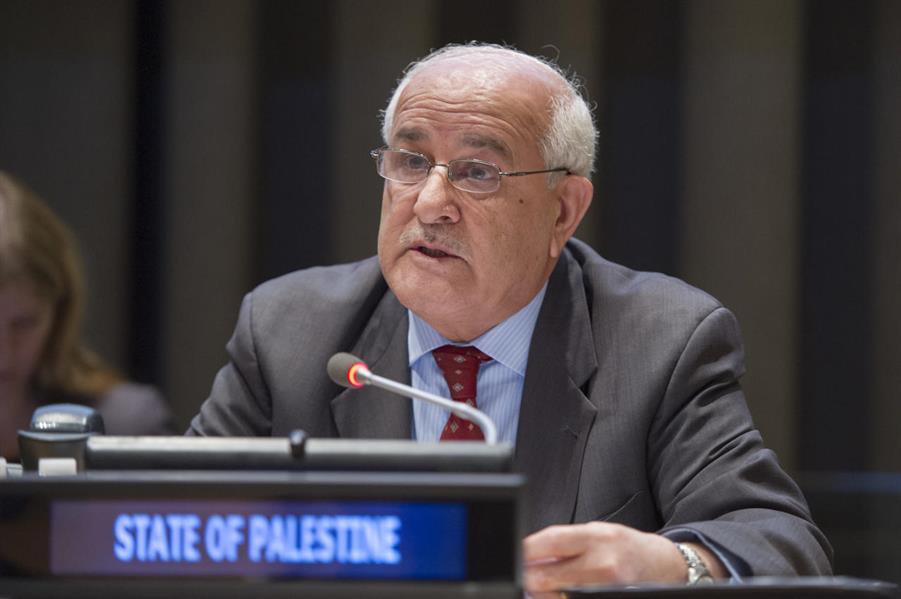 مندوب فلسطين الدائم لدى الأمم المتحدة يدعو إلى اتخاذ تدابير عاجلة لإعادة الوضع القائم بالقدس