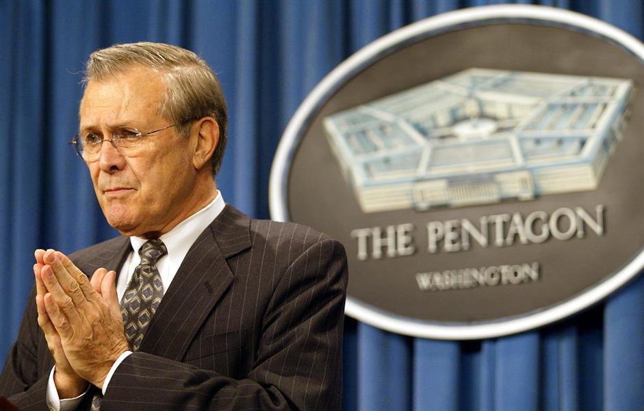 وزير الدفاع الأمريكي الأسبق دونالد رامسفيلد