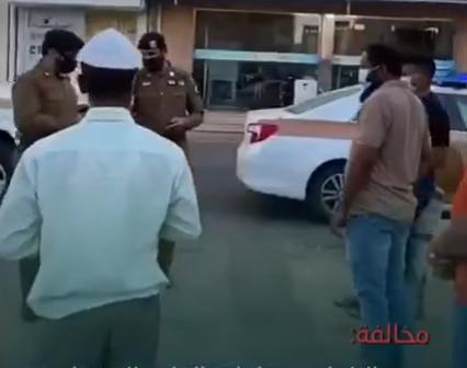 """""""شرطة الرس"""" تباشر تطبيق الإجراءات الاحترازية وتضبط عدة مخالفات"""