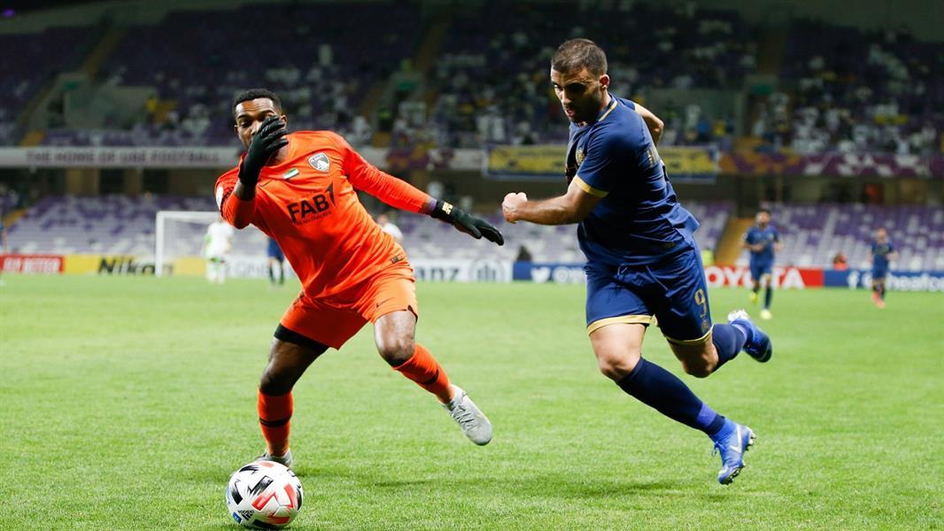 حمدالله في مباراة العين الإماراتي