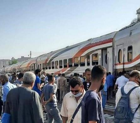 خروج عجلة قطار عن القضبان بسبب حادث