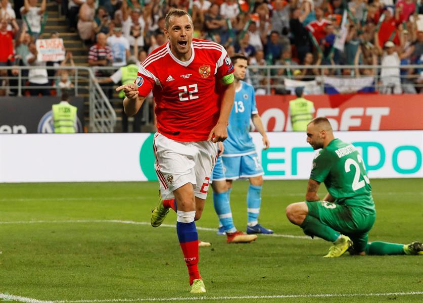 منتخب روسيا يحقق أكبر فوز في تاريخه ويهزم سان مارينو بتسعة أهداف