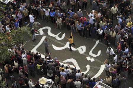 محتجون خلال مظاهرة مناهضة للرئيس المصري محمد مرسي