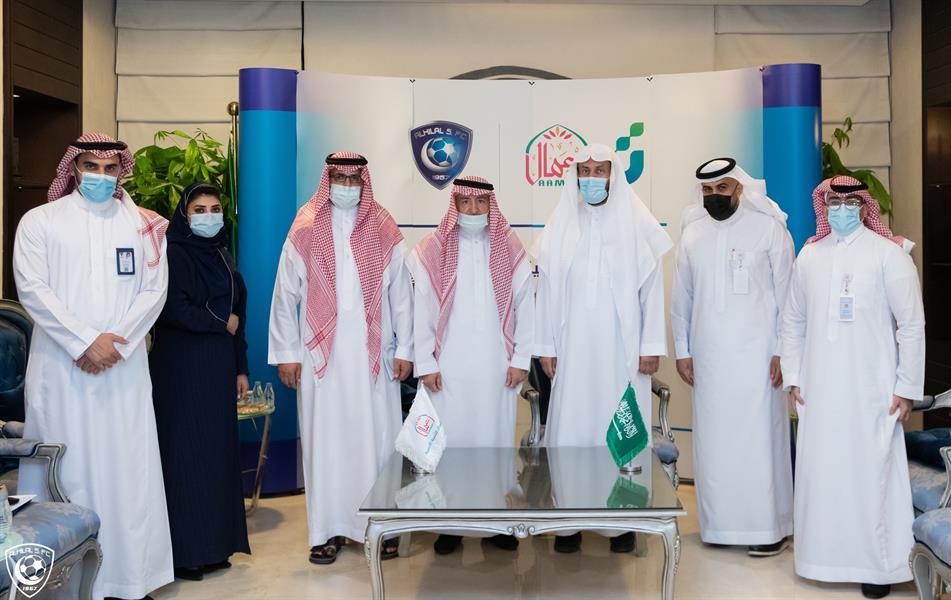 الهلال يوقع اتفاقية تعاون مع جمعية أعمال