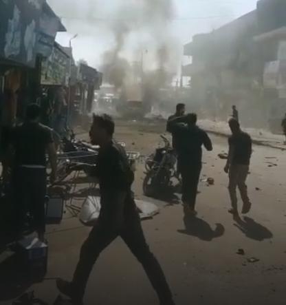 بينهم جـثث متفحمة.. 6 قتلى بتفجير سيارة في عفرين السورية
