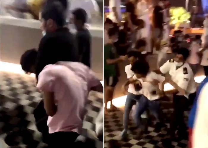 مشاجرة عنيفة بين فتيات وشبان في مجمع تجاري بالرياض