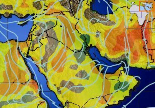 الحصيني: تراجع الحالة المطرية ورياح متوسطة القوة على بعض المناطق