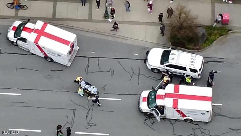 حادثة طعن داخل مكتبة في فانكوفر ، كندا